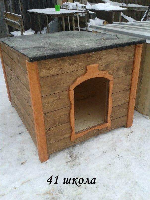 Эжвинские школьники сколотили 5 будок для собак «Домика»